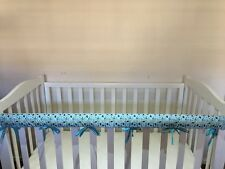 Reversible Baby Cot Crib Teething Rail Cover Protector~Cute dogs and cats design