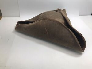 """ELOPE Tri Corner Hat Pirate Or Colonial Costume Large 15"""" Preowned VG Tricorne"""