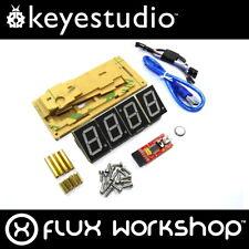Keyestudio Smart Clock Kit KS0201 DIY Temp Red Acrylic Arduino Flux Workshop