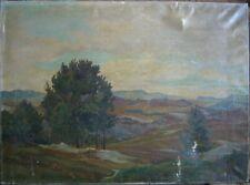 Oskar Frey 1883 -1966 Oil Painting Landscape Eifel to The Herrichten Antique