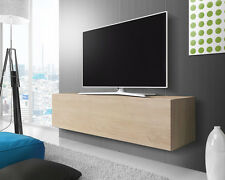 TV Schrank Lowboard Hängeboard Bank POINT, mit Hochglanzfronten in Weiß, Schwarz