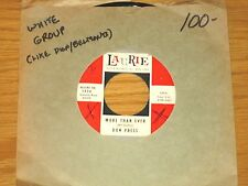 "DOO WOP GROUP 45 RPM - DON PRESS - LAURIE 3036 - ""MORE THAN EVER/ASK THE ROBIN"""