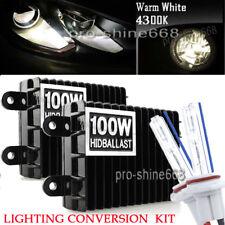 2pcs H1 AC 100W Xenon HID Headlight CONVERSION KIT Bulbs Light 4300K OEM White
