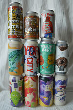 More details for empty craft beer cans tin tiny rebel brew york amundsen bang the elephant turtle