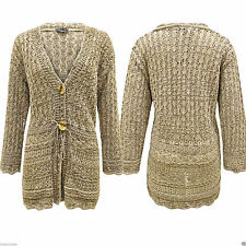 Chunky, Cable Knit V Neck Button Cotton Women's Jumpers & Cardigans