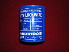 Goodridge Stainless Steel Lock Wire 0.5mm. Tub New,( b.
