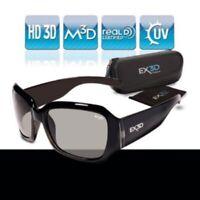 EX3D Damen 3D Brille passiv Polfilterbrille zirkular für 3D-TV Beamer Kino RealD