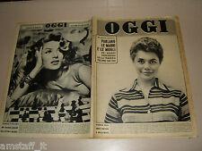 OGGI=1958/6=BELINDA LEE=SANTA MARINELLA=CARSULAE SANGEMINI=MIIKO TAKA=GOZZANO R.