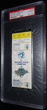 1992 TORONTO BLUE JAYS VS BRAVES 1ST CANADIAN TEAM TO WIN WS GAME 4 TICKET PSA