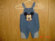 Babies Disney Mickey Mouse Blue Jean Denim Bib Overalls 12 Months Fc232