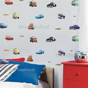 Disney Cars 28PC Kids Wall Decal Art Stickers Boy Girl Nursery Decal Mural UK