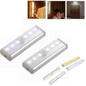 LED Lamp PIR Motion Sensor Lights Bedroom Wireless Strip Lighting Staircase Wall
