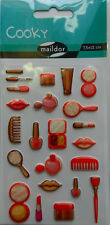 Maildor 23 pzas. sticker set Cooky maquillaje, 3d-sticker (7,5x12cm)