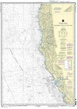 NOAA Chart Monterey Bay to Coos Bay 22nd Edition 18010