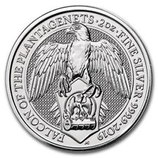 FAUCON 2019 QUEENS BEASTS 2 OZ ARGENT UK £5 SILVER GREAT BRITAIN FALCON