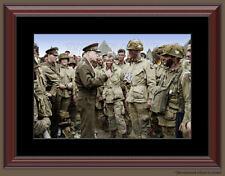 General Eisenhower D Day Paratrooper Color Framed Photo Print World War II