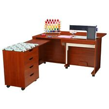 Arrow Laverne & Shirley Sewing Cabinet and Caddy in Teak