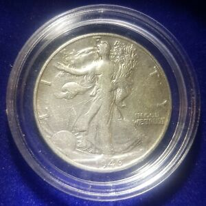1946-D USA Silver Walking Liberty Half Dollar