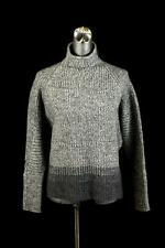 womens gray ELIE TAHARI sweater knit top long sleeve casual mock neck wool S