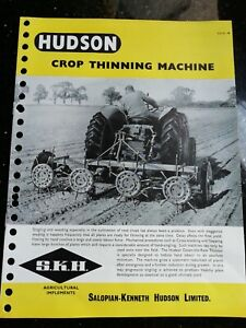 Fordson Major tractor with SKH crop thinner brochure