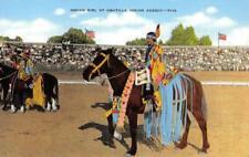 Indian Girl at Umatilla Indian Agency Native Americana c1940s Vintage Postcard
