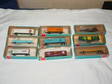 VINTAGE  Con-Cor N Scale Lot 9 Freight Cars Mint