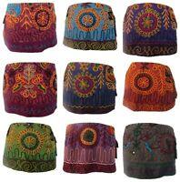 Embroidered Hand Stitched Colourful Skirt Festival Pixie Goa Mini Boho Hippy