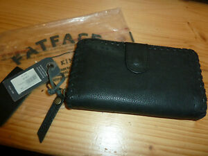 Fat Face BNWT Purse Wallet - Black Leather