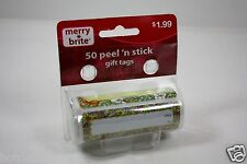 110 PC PEEL AND STICK HOLIDAY GIFT TAG FOR PRESENTS CHRISTMAS MERRY BRITE
