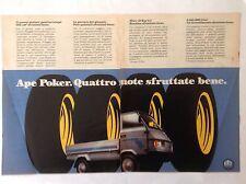 PUBBLICITÀ' ADVERTISING  PIAGGIO APE POKER   -1990