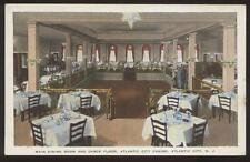 Postcard ATLANTIC CITY New Jersey/NJ  Casino Dining Room & Dance Floor 1910's