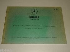 Teilekatalog Ersatzteilliste Mercedes Benz Unimog Motor Typ OM 314,  06/1966