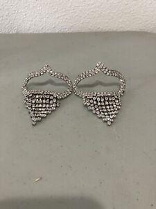 VTG MUSI rhinestone shoe clips