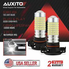 2X AUXITO 5202 H16 LED Fog Light For GMC Sierra 1500 2500 HD 2009 2010 2011 2013
