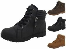Snow, Winter Block Heel Lace Up Boots for Women