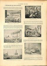 Anniversaire des les Trois Glorieuses révolution de 1830 Paris ILLUSTRATION 1897