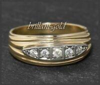 Brillant Damen 585 Gold Ring mit 0,20ct Diamanten, Antk um 1930, Handarbeit