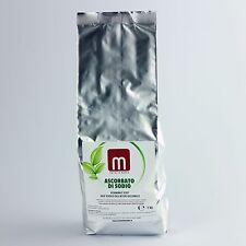 ASCORBATO DI SODIO 1000 gr VITAMINA C E301 100% VEGETALE NO OGM sodium ascorbate