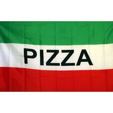 Pizza Flag Banner Sign 3' x 5' Foot Polyester Grommets Red White Green