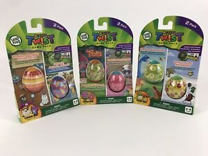 Leap Frog RockIt Twist 6 Game Two Pack Games Trolls Dinosaur Animal Banzai Lot 3