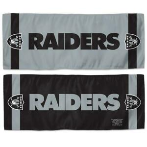 Las Vegas Raiders 12x30 Cooling Towel [NEW] NFL Wrap Cold Cool Hot