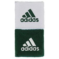 """Adidas Interval 3 """" Reversible Wristbands  - White/Forest (NEW) Includes 2 Bands"""