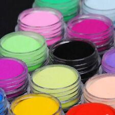 18 Box Color Acrylic Nail Art Tips UV Gel Powder Dust DIY Decoration Manicure