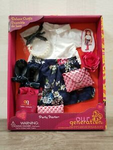 """New Our Generation Deluxe outfit For 18"""" Dolls-Collection name party starter ✅"""