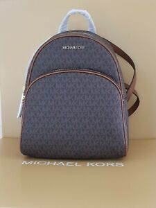 MK Michael kors womens bag backpack ABBEY BROWN MD BACKPACK RRP £375