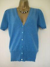 BRORA blue 100% cashmere cardigan size 12