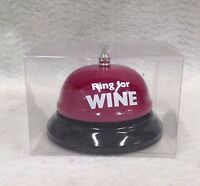 Ring For Wine Table Bell Vino Drinking Connoisseur Birthday Party Gag Gift Favor