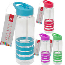 Gym Sports Water Bottle Drinking Outdoor Flip Straw BPA Free Juice Walking Bike