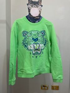Kenzo Green Tiger Crew Neck Sweatshirt size M
