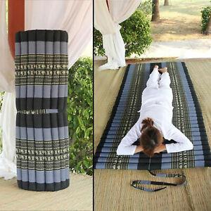 Portable Mattress Roll Up Camping/Yoga Matt 100% Natural Thai Kapok Fiber Filled
